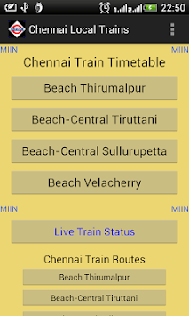 Chennai Local Train Timetable pc screenshot 1