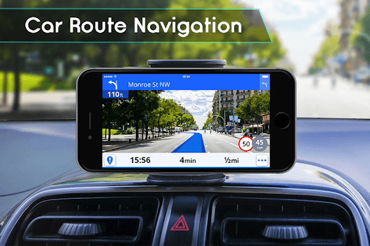 GPS Navigation & Traffic Maps Tracker pc screenshot 1