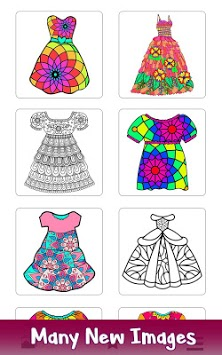 Girls Dress Color by Number: Fashion Coloring Book pc screenshot 1