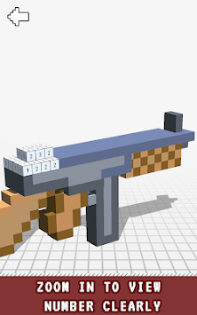 Guns 3D Color by Number - Weapons Voxel Coloring pc screenshot 1