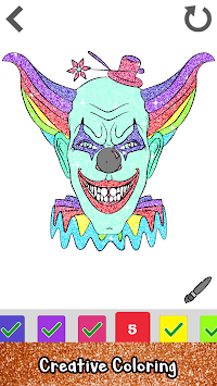 Halloween Glitter Color by Number Coloring Book pc screenshot 1
