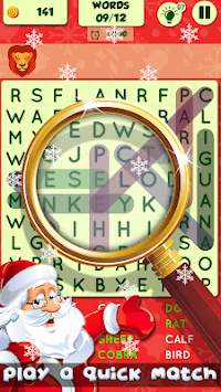 Christmas Word Search Puzzle Game pc screenshot 1