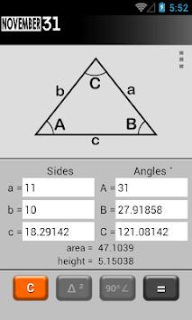 Triangle Calculator pc screenshot 1