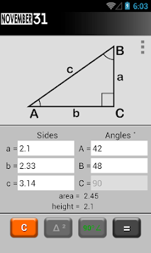 Triangle Calculator pc screenshot 2