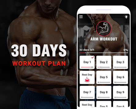 Arm Workouts - Strong Biceps in 30 Days at Home pc screenshot 1