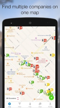 Scooter Map - Charge Bird, Lime and Skip Scooters pc screenshot 1