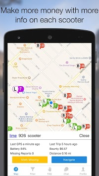 Scooter Map - Charge Bird, Lime and Skip Scooters for PC