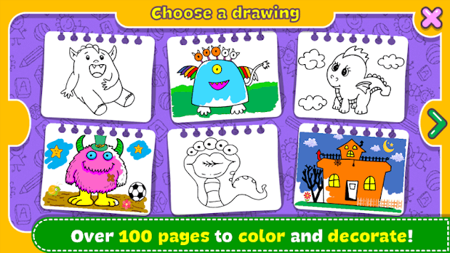 Monsters - Coloring Book & Games for Kids pc screenshot 1