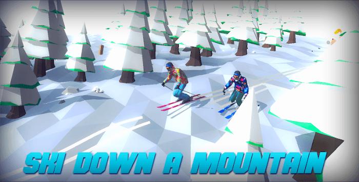 Racing in Mountain Ski 2019: Top Hill Skiing Racer pc screenshot 1