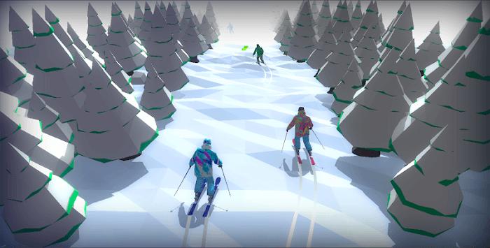 Racing in Mountain Ski 2019: Top Hill Skiing Racer pc screenshot 2