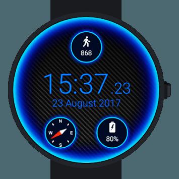 Carbon Neon Watch Face pc screenshot 1