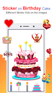 Photo & Name On Birthday Cake: HD Photo Frames pc screenshot 1