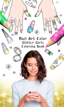 Nail Art Color – Glitter Girls Coloring Book pc screenshot 1