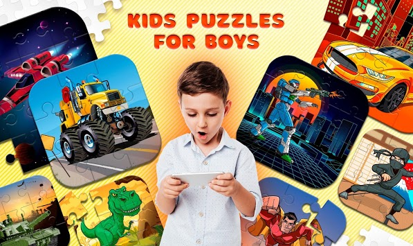 Kids Puzzles for Boys pc screenshot 1