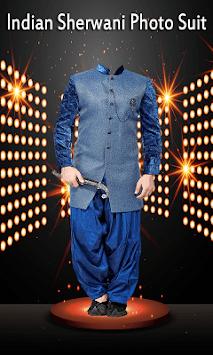 Indian Sherwani Photo Suit - men sherwani pic suit pc screenshot 1