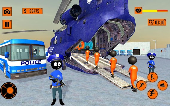 Real Stickman Prison Transport pc screenshot 1