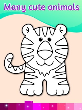 Coloring Pages Kids Games with Animation Effects pc screenshot 1