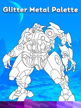 Robots Coloring Pages with Animated Effects pc screenshot 1