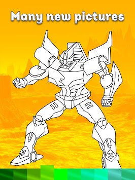 Robots Coloring Pages with Animated Effects pc screenshot 2