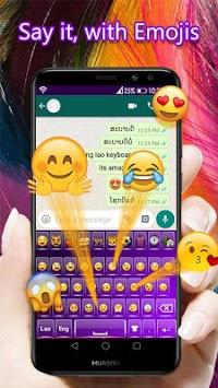 Lao Language Keyboard 2020 : Lao Keyboard pc screenshot 1
