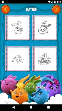 Sunny Bunnies Coloring Book - Kids Game pc screenshot 1