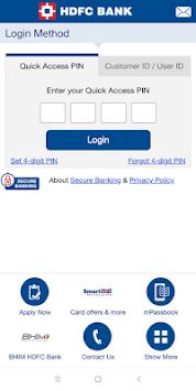 HDFC Bank Mobile App pc screenshot 1