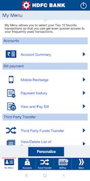 HDFC Bank Mobile App pc screenshot 2