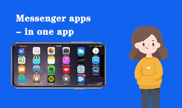 Messenger apps  - in one app pc screenshot 2