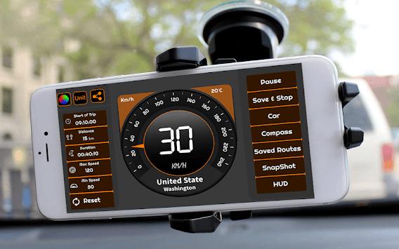 Speedometer & GPS Odometer - Route Planner pc screenshot 2