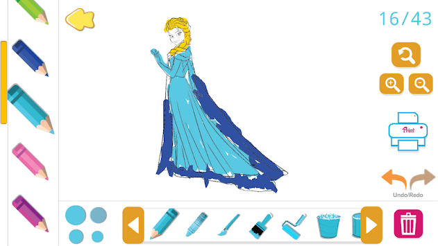Coloring Book for Disney Princess - for girls game pc screenshot 2