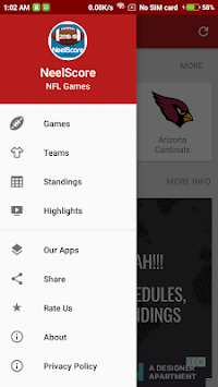 2019 NFL Football Games, Scores : NeelScore pc screenshot 2