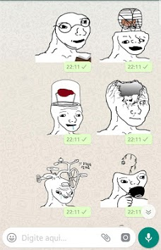 Brainlet Meme stickers WAStickerApps pc screenshot 1