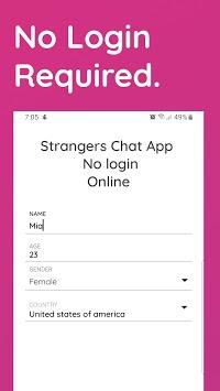 Strangers chat app no login online pc screenshot 1