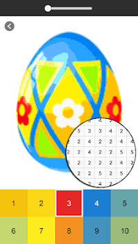 Easter Egg Coloring Game - Color By Number pc screenshot 1