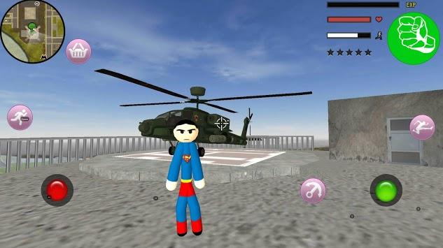 Stickman Superboy  Rope Hero Crime City pc screenshot 1