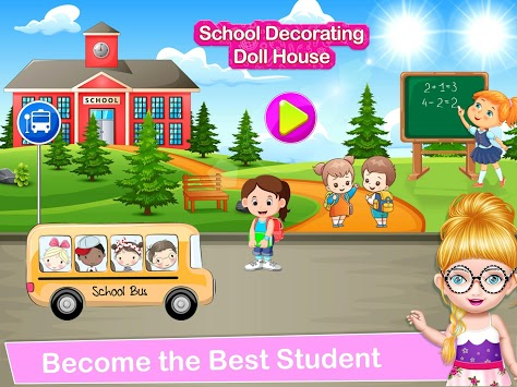School Decorating Doll House Town My HomePlay Game pc screenshot 1
