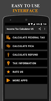 Income Tax Calculator USA pc screenshot 1
