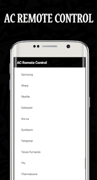 AC Remote Control Universal pc screenshot 1