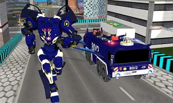 Real Robot fire fighter Truck: Rescue Robot Truck pc screenshot 1