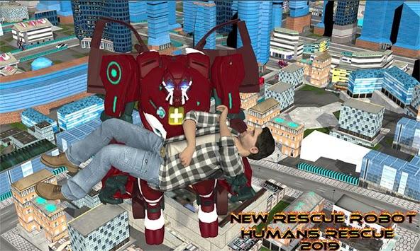 Real Robot fire fighter Truck: Rescue Robot Truck pc screenshot 2