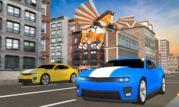 Real Robot Horse Battle:Wild Horse US Police Robot pc screenshot 2