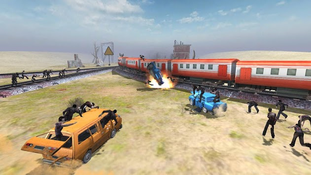 Train shooting - Zombie War pc screenshot 1