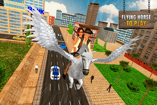 Flying Horse Taxi City Transport pc screenshot 2