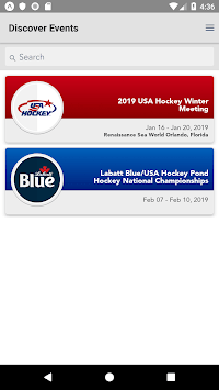 USA Hockey Events pc screenshot 1