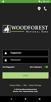 Woodforest Mobile Banking pc screenshot 1