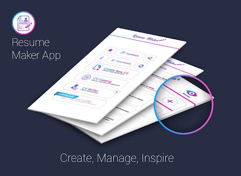 Free resume maker CV maker templates formats app pc screenshot 1