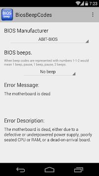 BIOS Beep computer error codes pc screenshot 1