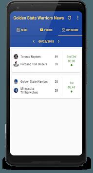 Golden State Basketball: Livescore & News pc screenshot 1