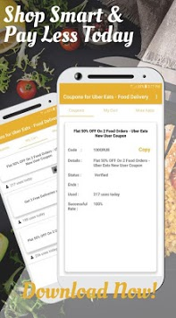Coupons for Uber Eats - Food Delivery pc screenshot 1