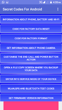 Secret Codes For Android pc screenshot 1